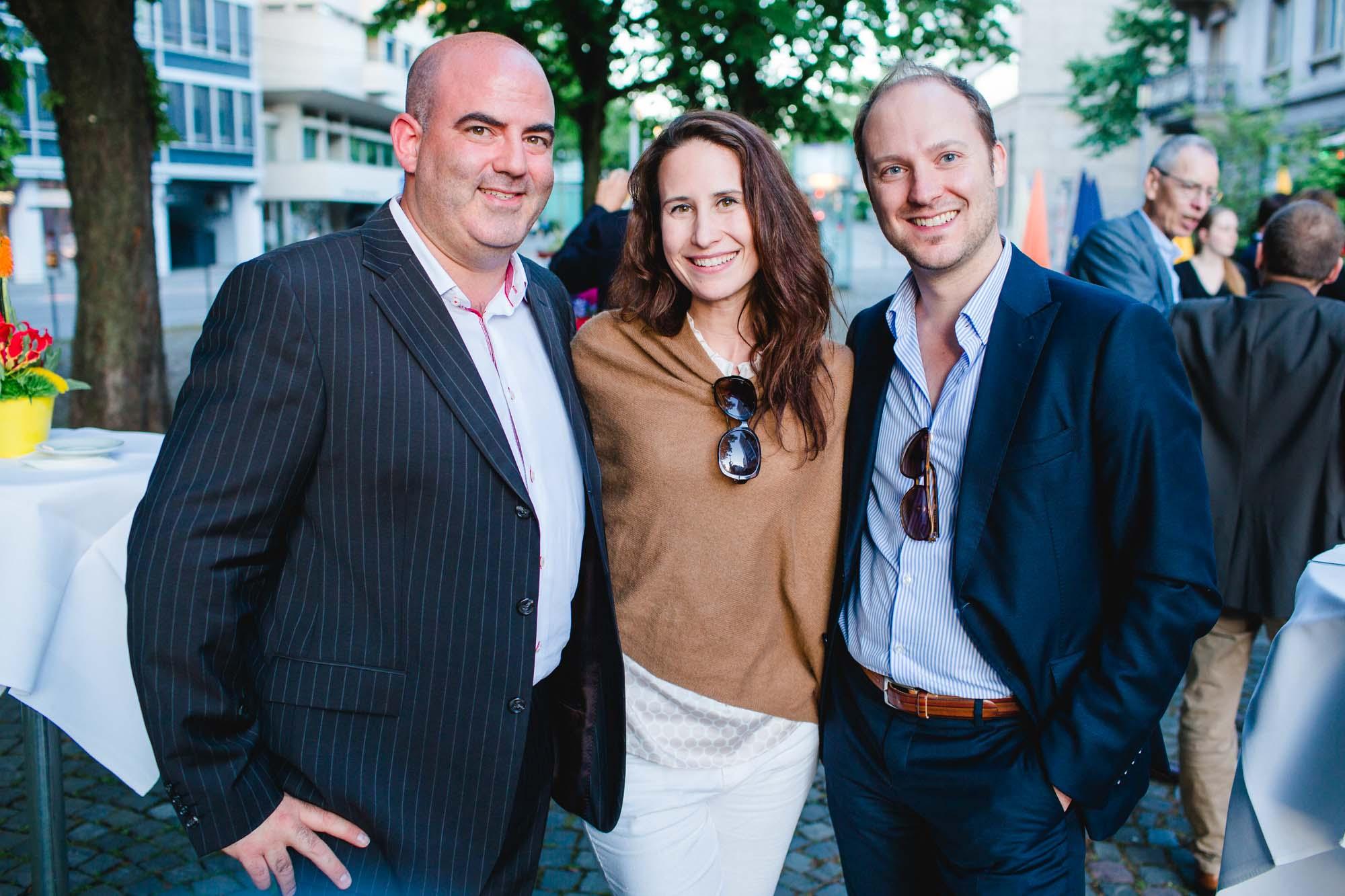 Diego Oppenheim, Ornella Janai and Daniel Jost