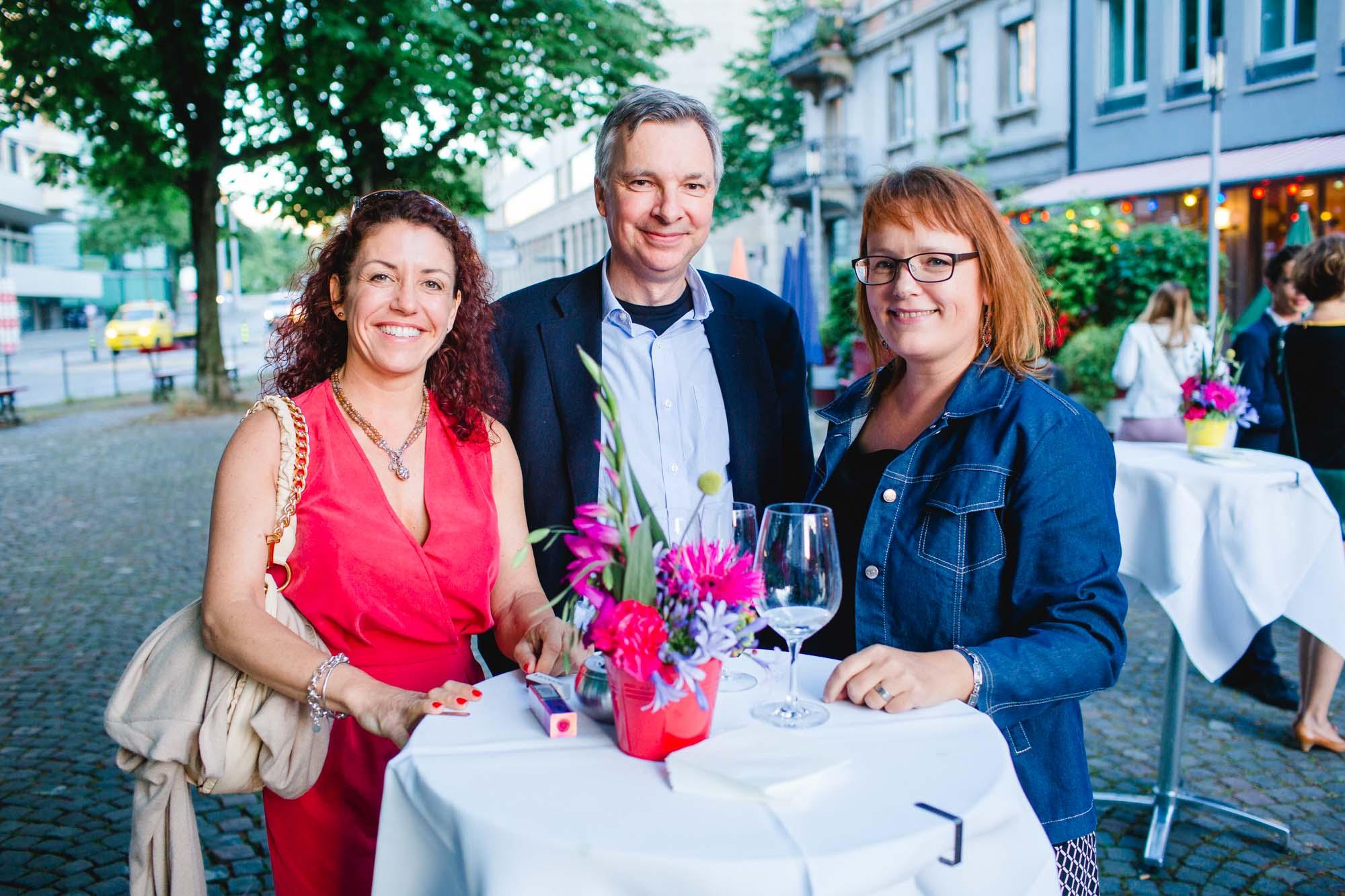 Angela Grandjean, Rolf Hartmann and Gisela Milesi