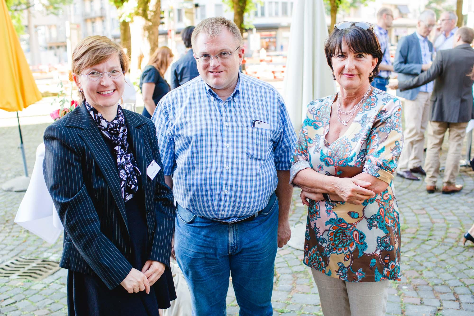 Nicole Merkel, Ralph Beyeler and Stefania Misteli
