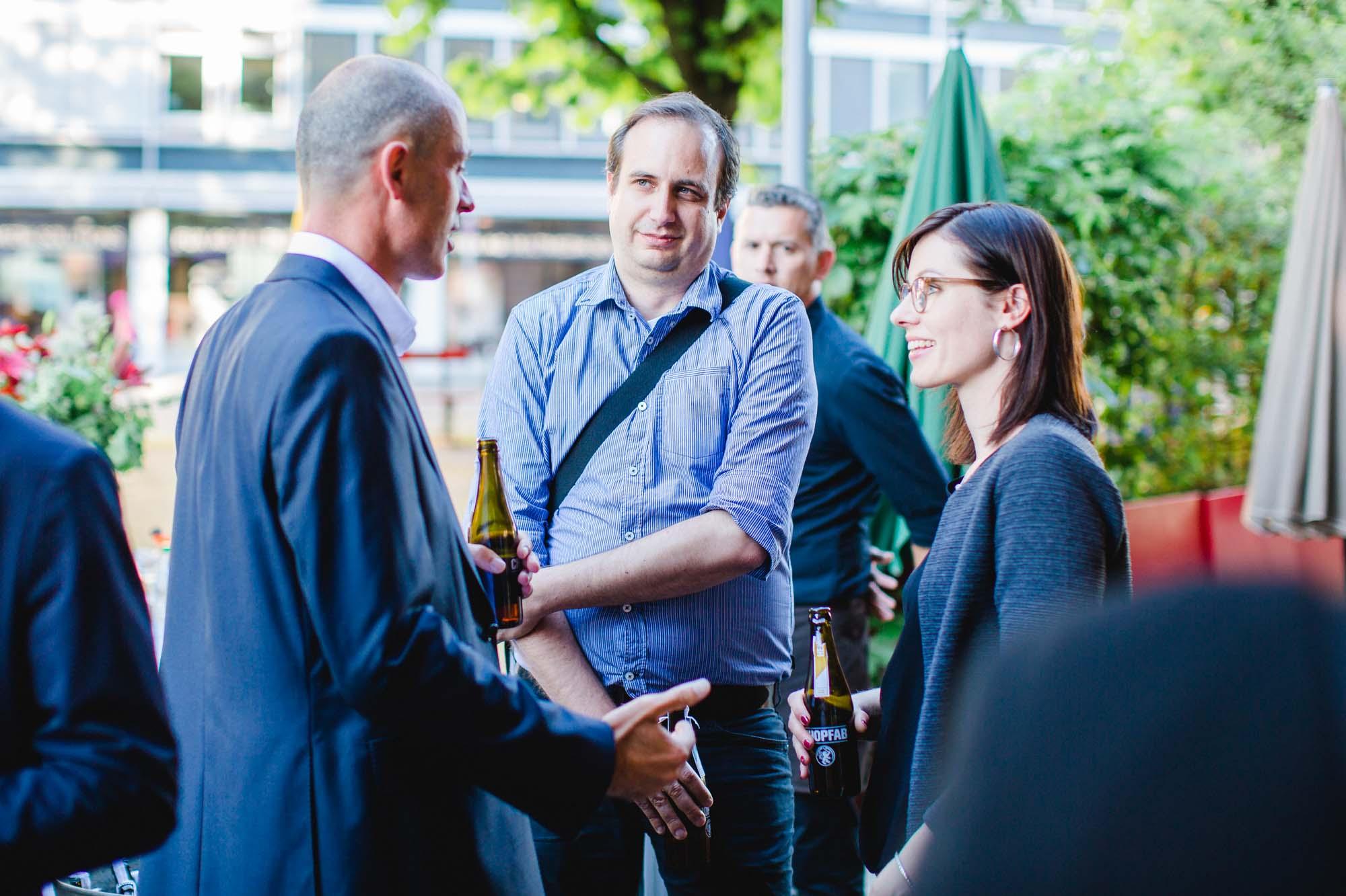 Kilian Borter, Stefan Hiller and Sandra Roth
